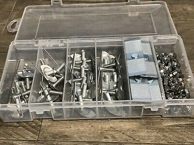 96pcs Dodge Plymouth Chrysler moulding clips & nuts assortment -ss keps nut