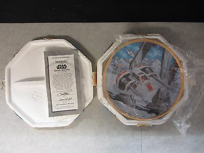 Star Wars Snowspeeders ~ Space Vehicles Hamilton Plate Collection ~ COA #1693C