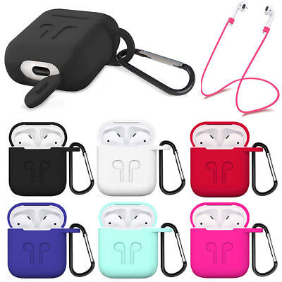 For Apple Airpods Accessories Anti-lost Strap Holder Rubber Protective Slim Case