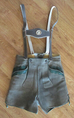 Authentic Lederhosen Suede Leather German Bavarian Made In Germany