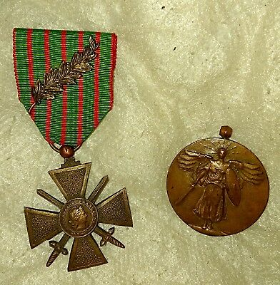 WW1 French CROIX DE GUERRE PALM CdG Medal AEF Excellent Condition RARE