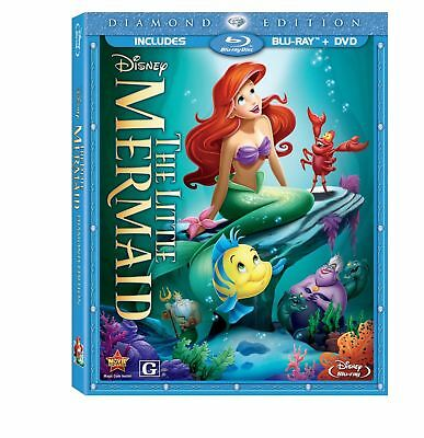 The Little Mermaid (Blu-ray/DVD, 2 Disc Set, Diamond Edition) New FREE SHIPPING