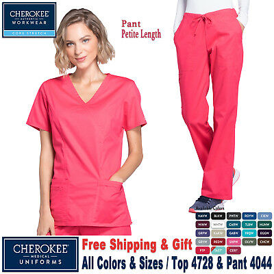Cherokee Scrubs Satz Core Stretch Uniform Imitat Umhang Top & Cargo-Hose