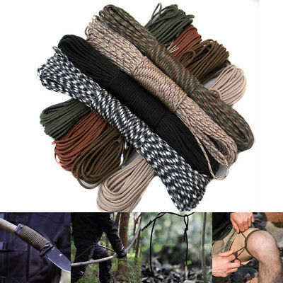100FT 550 Paracord Parachute Cord Rope Lanyard Mil Spec Type III 7-Strand Core