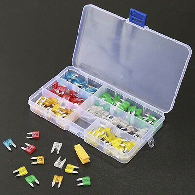 120pcs/Set Assortment Mini Blade Fuse Auto Car Motorcycle SUV FUSES Kit with Box