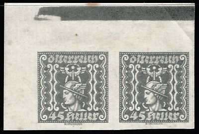 1921-2 Austria Joined Imperforate Pair Newspaper Pre-Decimal Stamps - Muh #rb49