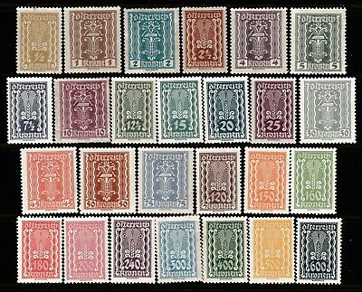 1922 Republic Of Austria Set 26 Pre-Decimal Stamps - Muh/mlh/mh #rb50