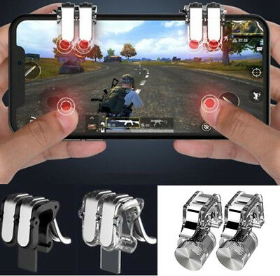 2PCS Gamepad Trigger Fire Button Shooting Aim Key L1R1 Mobile Game Controller