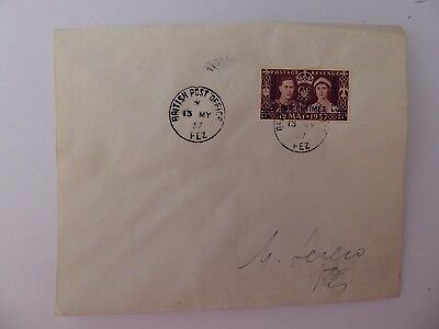 Morocco agencies 1937 First day cover
