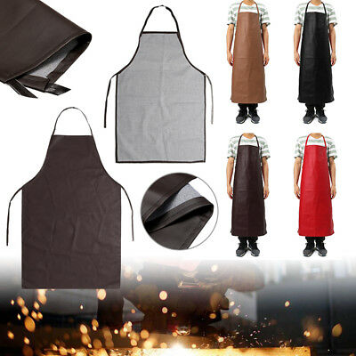 PU Leather Welding Apron Equipment Heat Insulation Protector Kitchen Work Safety