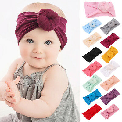 Cute Kids Baby Girl Toddler Turban Knot Headband Hair Band Headwear Accessories
