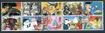 GB 1993 greetings sheet ten x 1st class stamps fine used