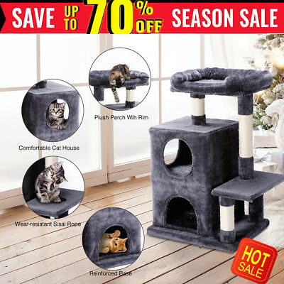 Cat Kitten Scratching Tree Post Scratcher Pole Toy House Furniture Ladder Large