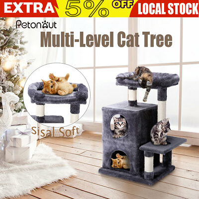 Cat Scratching Tree Scratcher Post Pole Furniture House Toy Gym Pet Tower Play+A