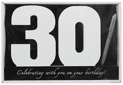 Wooden Birthday Signature Plaque ~ Happy 30Th Birthday Gift