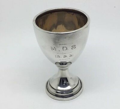 Antique Sterling Silver Egg Cup 1929