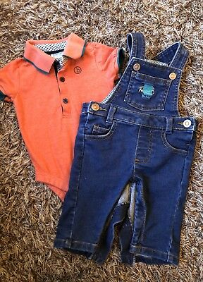 Ted Baker Baby Boy Dungarees And polo