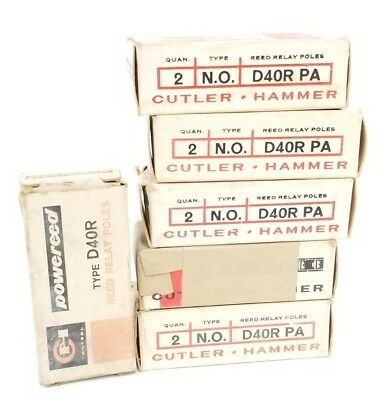 Lot Of 12 New Eaton Cutler-Hammer D40R Pa Reed Relays Poles Type: N.o. D40Rpa