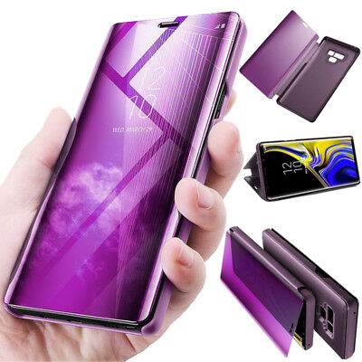 Flip Smart Case For Samsung Galaxy Note 9 Clear S View Touch Mirror Stand Cover