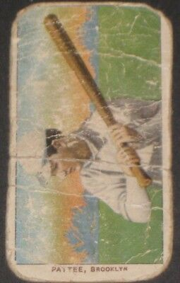 1909 T206 Sweet Caporal Baseball Card PATTEE Antique Collectible Tobacco Cards