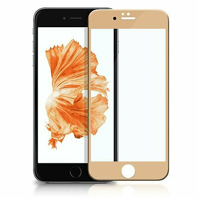 Display Schutz Glas 4D Apple iPhone 8 gold 9H Panzer Glasfolie Curved friendly