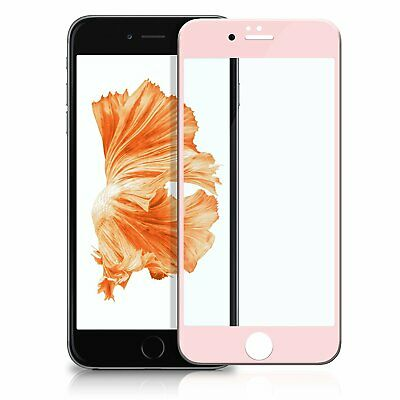 Display Schutz Glas 4D Apple iPhone 7+ Rose 9H Panzer Glasfolie Curved friendly
