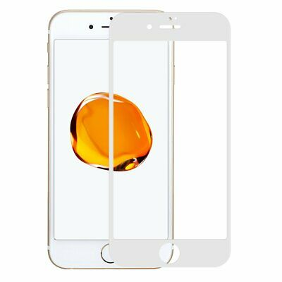 Display Schutz Glas 4D Apple iPhone 7+ weiß 9H Panzer Glasfolie Curved friendly