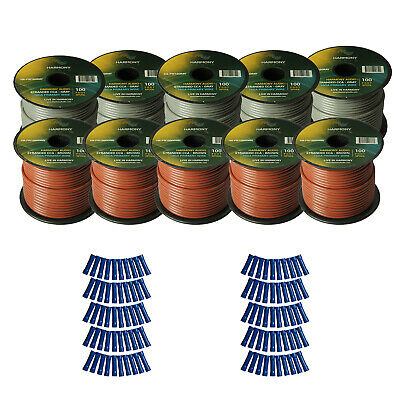 Harmony Car Primary 16 Gauge Power or Ground Wire 1000 Feet 10 Rolls Brown Gray