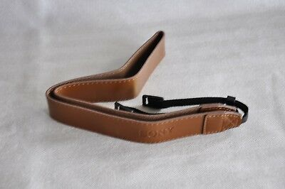For Sony Pu Leather Brown  Shoulder Neck Strap   For Camera