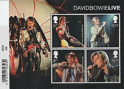 GB Stamps 2017 'David Bowie Live' MS3939 with barcode - U/M
