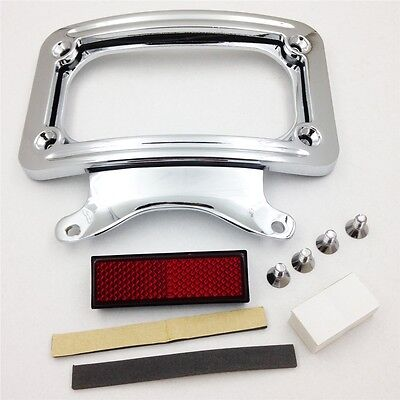 Newest Laydown Curved License Plate Frame Bracket For 10-13 Harley Road Glide