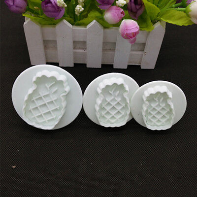 Creative Fruit Pineapple Plastic Moulds Fudge Cutting Mold Biscuit Cake Baking S