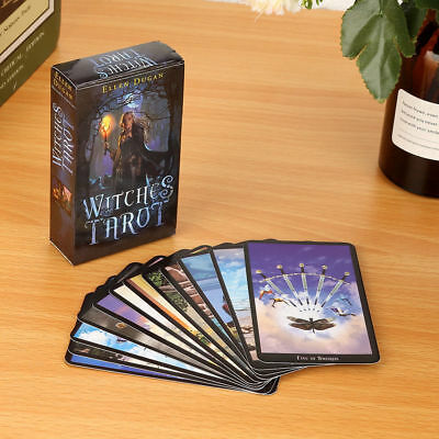 Witches Tarot Deck Сard English 78Card Future Fate Indicator Forecasting D04