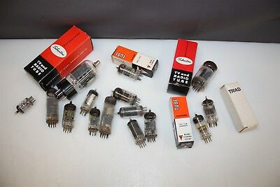 Lot of Vintage Vacuum Electronic Tubes Untested
