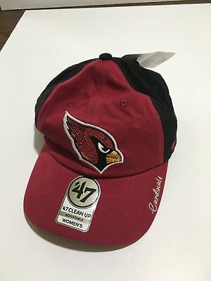 half off a8a8f fb9cd ireland top quality nwt arizona cardinals 47 nfl womens sparkle two tone clean  up adjustable hat