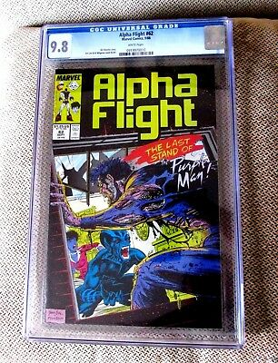 Alpha Flight #62 CGC 9.8 Purple Man Jim Lee Al Milgrom 1988 Marvel Comic