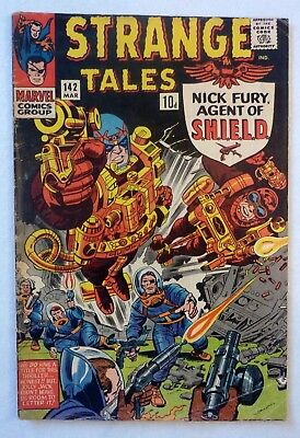 Strange Tales 142 Silver Age 1966 Nick Fury Shield VG-/VG/VG+ Condition