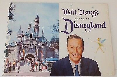1958 Walt Disney's Guide to Disneyland Booklet