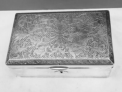 Large Japanese Sterling Silver .970 Box w/ Lock