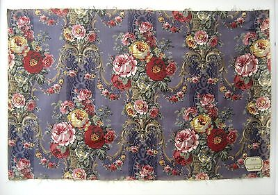 Beautiful Early 20th C. French Floral Cotton Print Fabric  (8750)