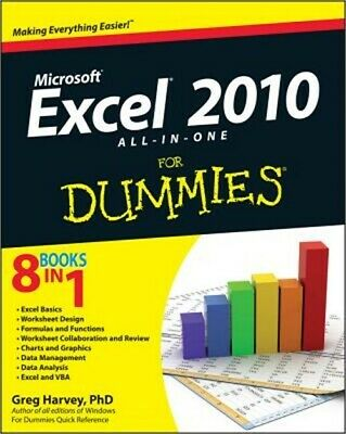 Excel 2010 All-In-One for Dummies (Paperback or Softback)