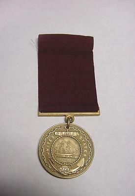 Vintage WW2 Era 1945 Dated Name Engraved US Navy Good Conduct Medal