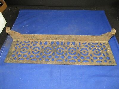 Antique Cast Iron Radiant Stove Heater-Furnace Vent Plate-Tray Cover Register