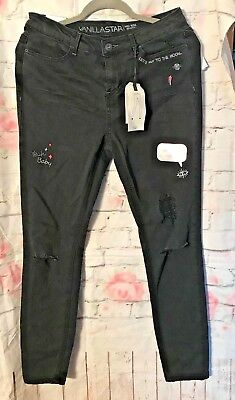 NWT Vanilla Star womens JEANS Mid Rise Skinny Size 13 (A051)