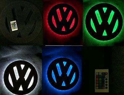 Vw t25 t4 t5 t6 caddy 12 inch interior led light badge logo.
