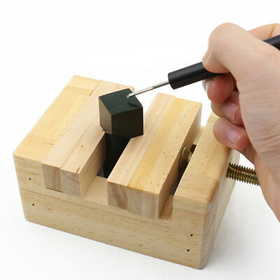 Wooden Mini Table Top Bench Vice Vise Clamp Tool DIY Jewelry Fixed Carving