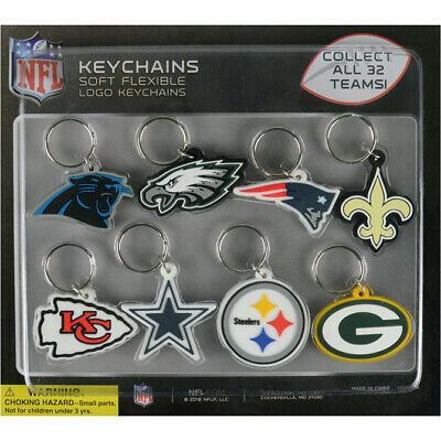 Nfl Football Team Decal Logo Soft Pvc Keyring, Keychain 32 Teams Super Bowl Key