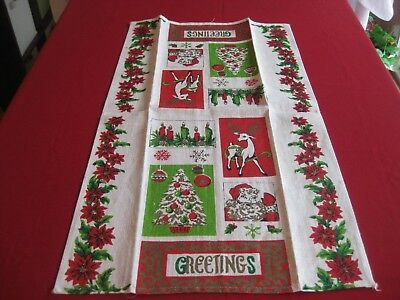 Christmas Decorative Towel, Linen, 28 x 15.75 inches, New, Great Gift
