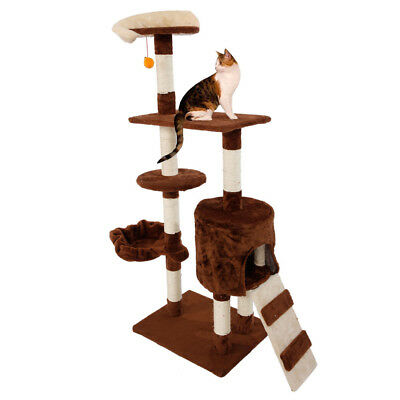 """53"""" Stable Cute Cat Tree Condo Sisal Furniture Scratching Pet Cat Play House Toy"""