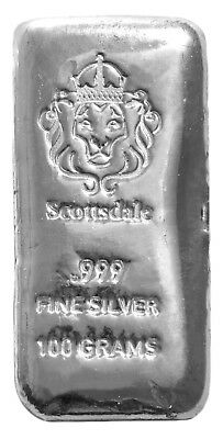Scottsdale 100g Silver Bullion Bar [New] 100 Grams .999 Fine Silver Collectible